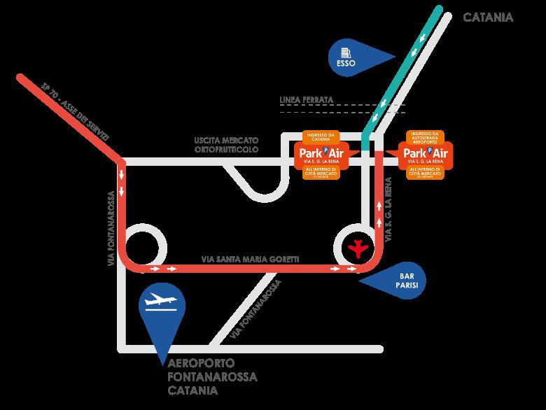 mappa-stradale-parcheggio-aeroporto-di-catania